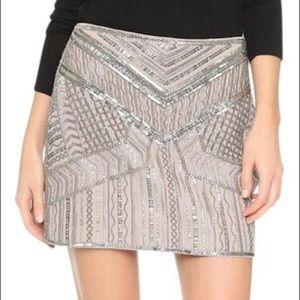 Club Monaco Hand Embroidered Itzel Mini Skirt